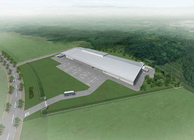 Rendering of the new factory of Aircraft Components Company in Natori City, Miyagi Prefecture<br/>(Photo: Courtesy of TAISEI CORPORATION)